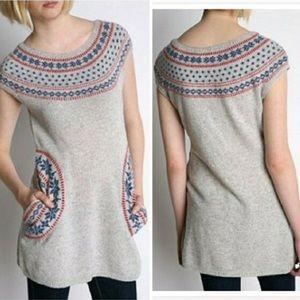 Tikirani Nordic Fair Isle Tunic Sweater Dress S